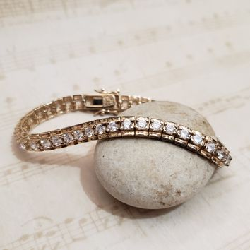 Estate Jewelry -  Diamond Tennis Bracelet