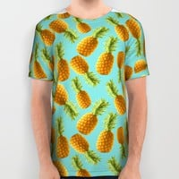 pineapple pattern All Over Print Shirt by Marta Olga Klara
