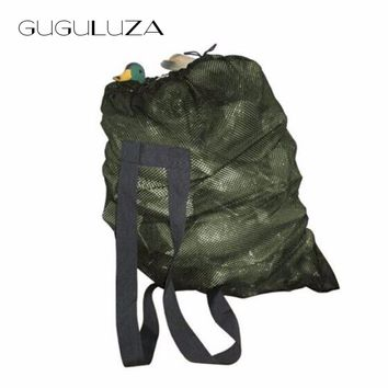 GUGULUZA Duck Decoys Bag With Shoulder Straps Mesh Backpack Decoy Bags Pigeon/Dove Carry Decoys Green