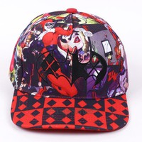 Trendy Winter Jacket 2017 Unisex Fashion Casual Baseball Hats Batman Harley Quinn Pattern Cap Summer Cotton Caps Women Snapback Hat AT_92_12