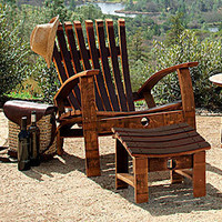 Barrel Stave Adirondack Furniture - Outdoor Living - Home & Garden - NapaStyle