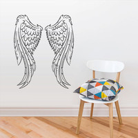 Wall Vinyl Sticker Decals Decor Art Bedroom Design Mural Wings Angel (z2976)