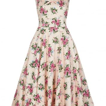 COLLECTIF VINTAGE MADDISON 40S FLORAL SWING DRESS