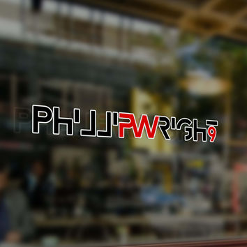 Phillip Wright Icon V1 - Window Decal in Memory of Phillip Wright