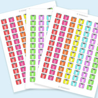 Weigh In Scale Printable Stickers - Variety