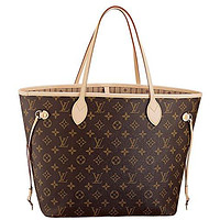 Louis Vuitton Neverfull MM Monogram Canvas Handbag Shoulder Bag Tote Purse  Louis Vuitton Handbag