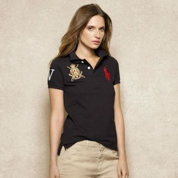 CREYUIB NEW POLO RALPH LAUREN SHIRT WOMEN SHORT SLEEVE T-SHIRT