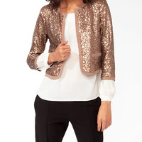 Sequined 3/4 Sleeve Jacket