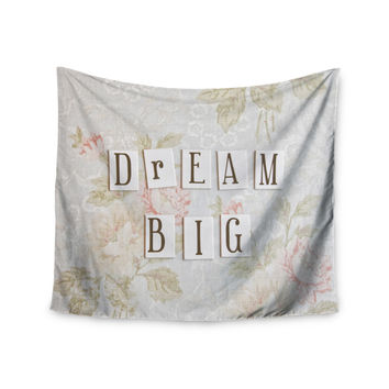 "Debbra Obertanec ""Dream Big"" Quote Floral Wall Tapestry"