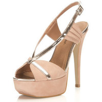 Harper Pink Fan High Sandal - Vintage Style - Clothing - Miss Selfridge