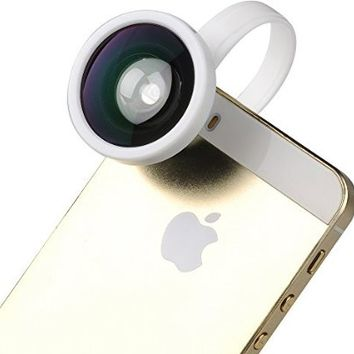 VicTsing Clip-on Fisheye Camera Lens Kit for iPhone 6 Plus 6 5 5S 5C 4S 4 iPad 2 3 4 Galaxy Note 1 2 II N7100 S1 S2 S3 S III i9300