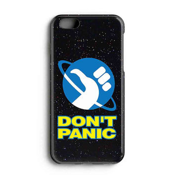 """Apple Iphone 6 4.7"""" Case - The Best 3d Full Wrap Iphone Case - Hitchhikers Guide To The Galaxy Dont Panic"""