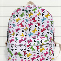 Butterfly Canvas Backpack = 4887936964