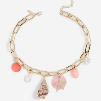 **Shell Starfish Drop Choker | Topshop