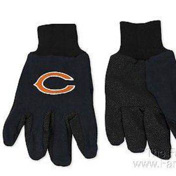 Chicago Bears Two Tone Pair GRIP Gloves Sport Work Utility Football