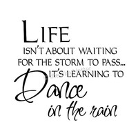 Life Storm Dance in the Rain Vinyl Wall or Tile Home Decal Sticker