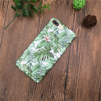 Summer Banana Leaf Case for iPhone 7 7Plus & iPhone 6s 6 Plus