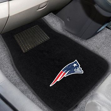 "NFL - New England Patriots 2-pc Embroidered Car Mats 18""x27"""