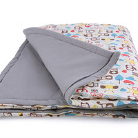 Grey- Organic Padded Blanket w/ storage bag