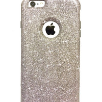iPhone 6 Plus Custom Glitter Otterbox Commuter Cute Case,  Custom  Glitter Graphite / Grey Otterbox Color Cover for iPhone 6 Plus