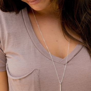 Simply Bar Necklace - Silver