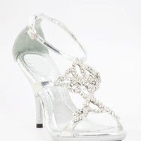 "Wedding Shoes Silver with 3.5"" heels and 1/2"" platform (Style 800-40)"