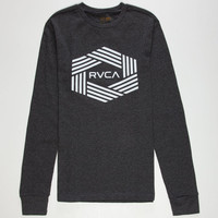 Rvca Bar Hex Mens Thermal Heather Black  In Sizes