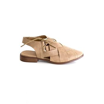 Women's Strappy Slingback Flat with Side Tie