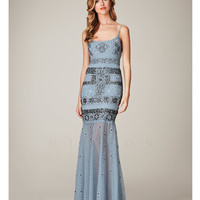 Mignon Spring 2014 Dresses - Ice Blue Beaded Mermaid Evening Gown