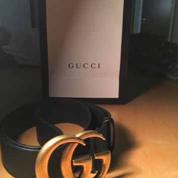 "GUCCI DOUBLE G BELT MENS 90 30"" WAIST"