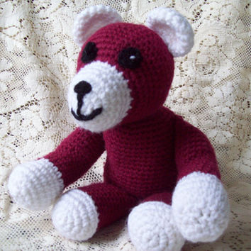 Crochet Bear Stuffed Animal // Teddy Bear // Crochet Stuffed Bear // Childrens Toy Bear