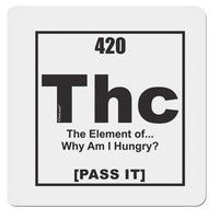 """420 Element THC Funny Stoner 4x4"""" Square Sticker by TooLoud"""