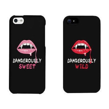 Dangerously Sweet And Wild Lips Cute BFF Mathing Phone Cases Gift