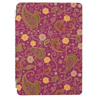 Firebrick Red Flowers Leaves iPad Pro Cover