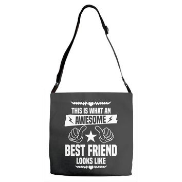 Awesome Best Friend Looks Like Adjustable Strap Totes