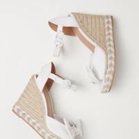 Wedge-heel sandals - White - Ladies | H&M GB