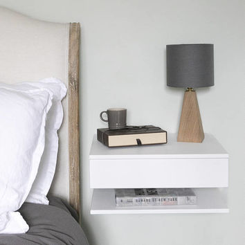 Large floating bedside