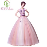 New Beautiful Colorful Pink Lace Flower Evening Dress The Bride Photography Floor-length Prom Formal Party Gowns