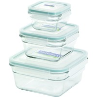 Glasslock 4-Piece Square Oven Safe Container Set
