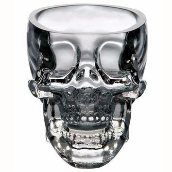 80ML/150ML/300ML Cool Crystal Skull Head Shot Glass Cup Transparent Vodka Whiskey Beer Wine Water Glass Cup Mug Drinking Ware