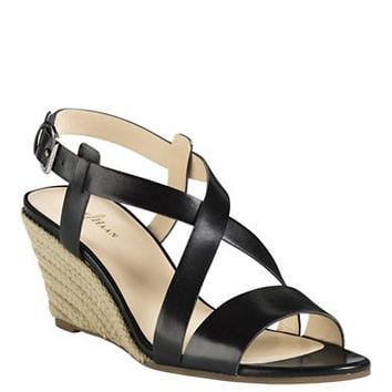 Cole Haan Taylor Leather Wedge Sandals
