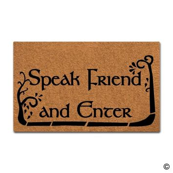 Doormat Entrance Floor Mat Funny Doormat Speak Friend And Enter Door Mat Home Decorative Indoor Outdoor Doormat  Top