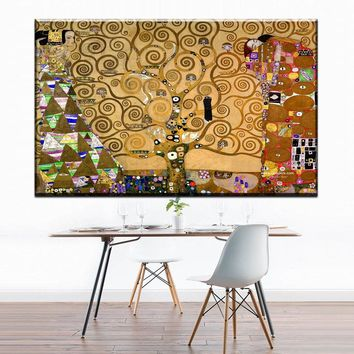 ZZ1739 modern decorative canvas art  tree of life by Austrian Painter Gustav Klimt canvas pictures oil art painting unframed art