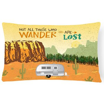 Airstream Camper Camping Wander Canvas Fabric Decorative Pillow VHA3026PW1216