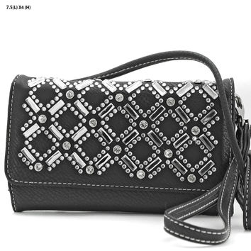 * Rhinestone Wallet In Black
