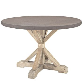 Stitch Round Wood Top Dining Table