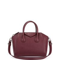 Antigona Medium Leather Satchel Bag, Oxblood