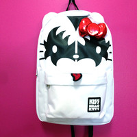 Loungefly – Hello Kitty x Kiss Backpack In White | Thirteen Vintage