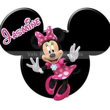 Minnie Mouse Mickey Mouse Head Disney World Disneyland Personalized w/ Name/Date Printable Iron On Transfer DIY Instant Download