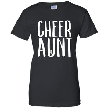 Cheer Aunt T Shirt for Proud Auntie of Cheerleaders Sports cool shirt